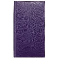 Алфавитная книжка, формат А6+, кожзам, фиолетовая