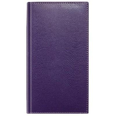 Алфавитная телефонная книжка, формат А6+, кожзам, фиолетовая