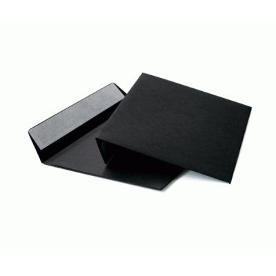 Цветной конверт С6 (114x162) лента, бумага 120 гр, черный