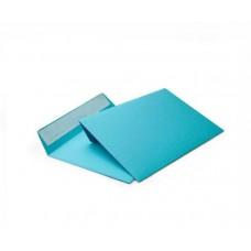 Цветной конверт С6 (114x162), лента, бумага 120 гр, голубой