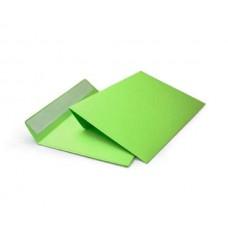 Цветной конверт С6 (114x162), лента, бумага 120 гр, зеленый