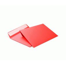 Цветной конверт С6 (114x162), лента, бумага 120 гр, красный