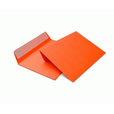 Цветной конверт С6 (114x162) лента, бумага 120 гр, оранжевый