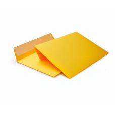 Цветной конверт С6 (114x162), лента, бумага 120 гр, желтый