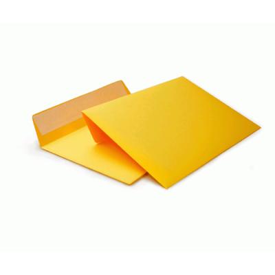Цветной конверт С6 (114x162) лента, бумага 120 гр, желтый