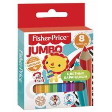 Детские цветные карандаши MINI Jumbo Fisher Price 8 цветов