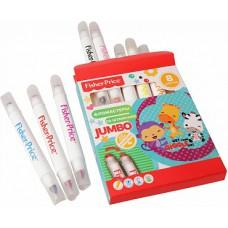 Детские фломастеры Jumbo двухсторонние со штампами, Mattel Fisher Price 8 цветов