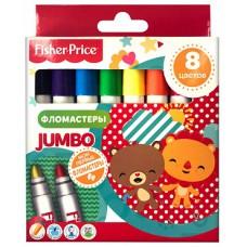 Детские фломастеры Jumbo Mattel Fisher Price 8 цветов вентилируемый колпачок