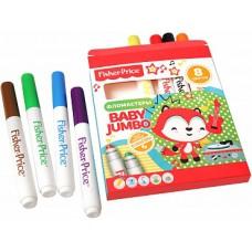 Детские фломастеры Jumbo с закругленным наконечником Mattel Fisher Price 8 цветов