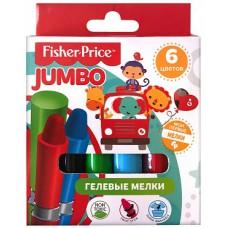 Гелевые мелки Fisher Price, 6 цветов, диаметр 16 мм