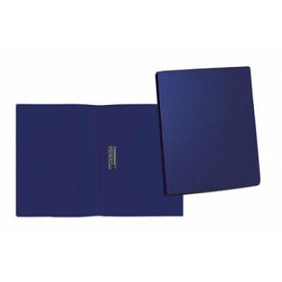 Папка с боковым прижимом А4, пластик, корешок 15 мм, синяя