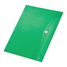 Папка с кнопкой А4 (238x333), пластик 120 мкм, зелёная