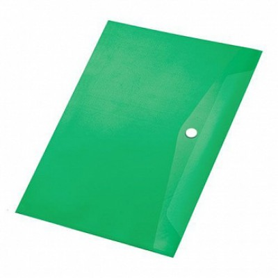 Папка-конверт на кнопке А4, пластик 120 мк, Expert Complete, зеленая