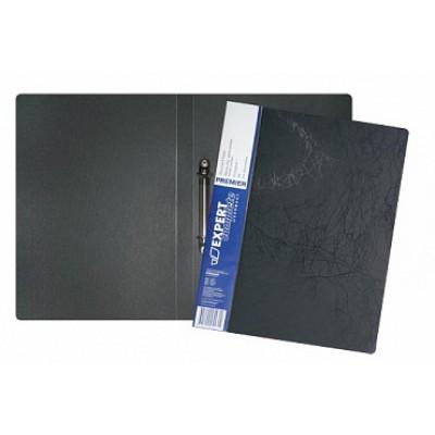 Папка на 4-х кольцах d=20 мм, А4, пластик 0.70, карман, корешок 25, черная