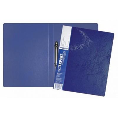 Папка на 4-х кольцах d=20 мм, А4, пластик 0.70, карман, корешок 25, синяя