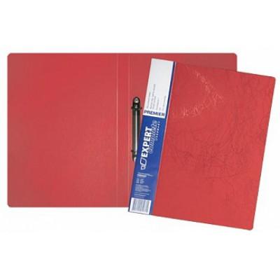 Папка на 2-х кольцах d=20 мм, А4, пластик 0.70, карман, корешок 25, красная