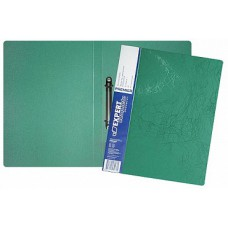 Папка на 2-х кольцах, А4, корешок 25, пластик 0,70 мм, зеленая