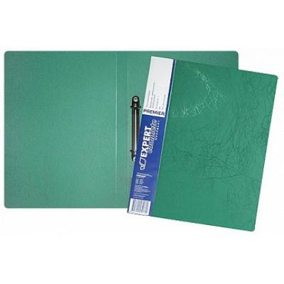 Папка на 2-х кольцах d=20 мм, А4, пластик 0.70, карман, корешок 25, зеленая