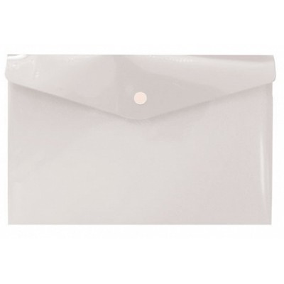 Папка-конверт на кнопке А6, пластик 180 мк, прозрачная, travel