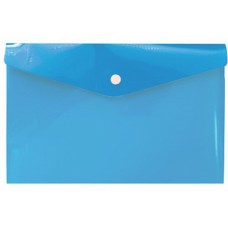 Синяя папка с кнопкой А6, 132*232 мм, пластик 180 мк