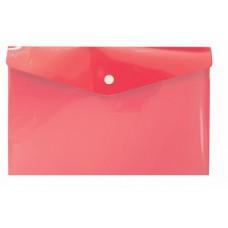 Красная папка с кнопкой А6, 132*232 мм, пластик 180 мк