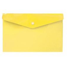 Жёлтая папка с кнопкой А6, 132*232 мм, пластик 180 мк