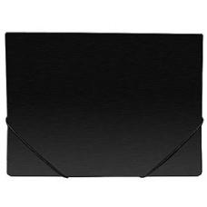 Папка на резинке А4, пластиковая, 35 мм, чёрная