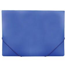 Папка на резинке А4, пластиковая, 35 мм, синяя