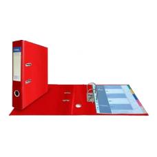 Папка-регистратор А4, обложка двусторонний PVC, 75 мм, арочный мех., красная