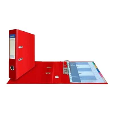 Папка-регистратор А4, обложка двусторонний PVC, корешок 75, карман, арочный мех., красный