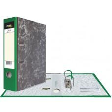 Картонная папка-регистратор А4, уголок, карман, зеленая, 75 мм