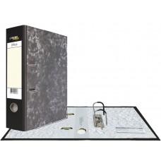 Картонная папка-регистратор А4, уголок, карман, черная, 75 мм