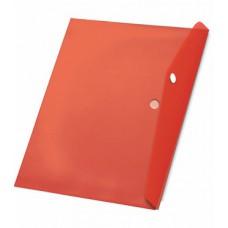Папка с кнопкой А4 (238x333), пластик 120 мкм, красная