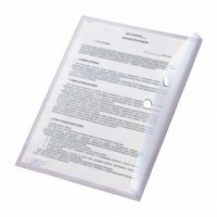 Папка с кнопкой А5 (168x232), пластик 180 мк, прозрачная