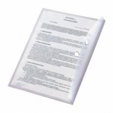Папка с кнопкой А4 (238x333), пластик 120 мкм, прозрачная