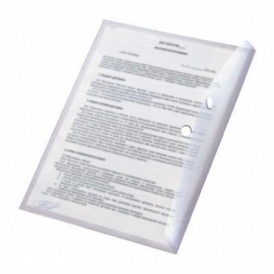 Папка-конверт на кнопке А5, пластик 180 мк, Expert Complete, прозрачная