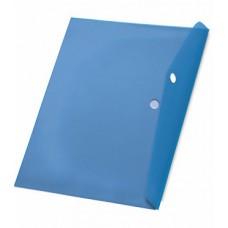 Папка с кнопкой А4 (238x333), пластик 120 мкм, синяя