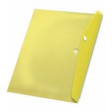 Папка с кнопкой А4 (238x333), пластик 120 мкм, жёлтая