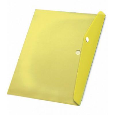 Папка-конверт на кнопке А5, пластик 180 мк, Expert Complete, жёлтая