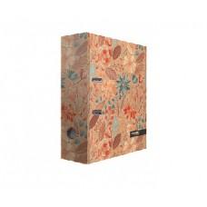 """Папка-регистратор А4, картон, 75 мм, дизайн """"Крафт Флора"""""""