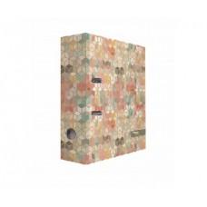 """Папка-регистратор А4, картон, 75 мм, дизайн """"Крафт Кубы"""""""