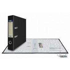 Папка-регистратор А4, обложка PVC, разборный мех., 75 мм, черная