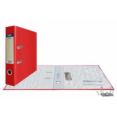 Папка-регистратор А4, обложка PVC, корешок 75, торц. карман, разборный мех., цвет красный
