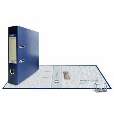 Папка-регистратор А4, обложка PVC, корешок 75, торц. карман, разборный мех., цвет синий