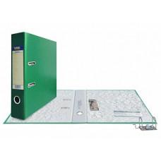 Папка-регистратор А4, обложка PVC, разборный мех., 75 мм, зеленая