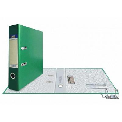 Папка-регистратор А4, обложка PVC, корешок 75, торц. карман, разборный мех., цвет зеленый