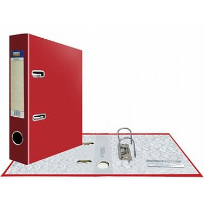 Папка-регистратор А5, Classic, арочный механизм, торц. карман корешок 75 мм, цвет красный