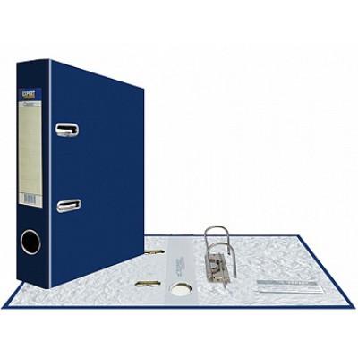 Папка-регистратор А5, Classic, арочный механизм, торц. карман корешок 75 мм, цвет синий