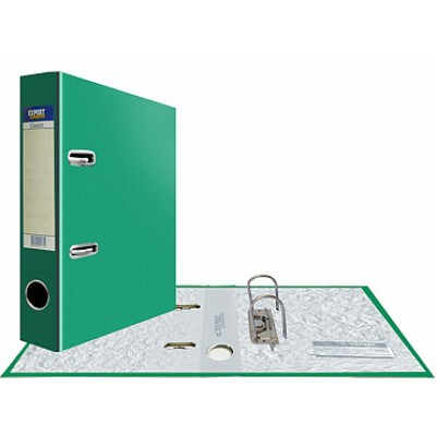 Папка-регистратор А5, Classic, арочный механизм, торц. карман корешок 75 мм, цвет зеленый