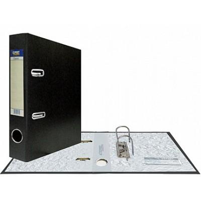 Папка-регистратор А5, Classic, арочный механизм, торц. карман корешок 75 мм, цвет черный